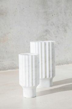 Florero de mármol de Carrara ARROKA by Versant Edition