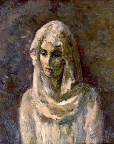 Роберт Фальк. В белой шали. (А.В. Щекина-Кротова). 1947, Русский музей, Петербург