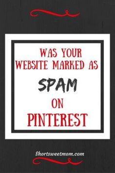 Was your website marked as spam on Pinterest. Here are the steps you can take to…