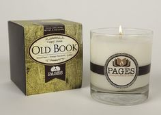 Old Book Scented Candle