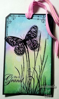 cbee's cards and more: Visible Image Sunday - Butterfly Tag Distress Ink, Bee, Sunday, My Arts, Butterfly, Tags, Projects, Handmade, Log Projects