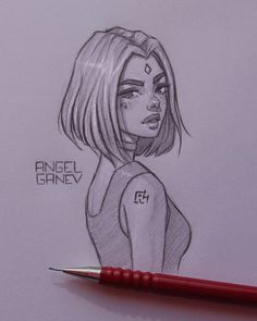 Beautiful, incredible, beautiful drawing ideas - Arte no Papel Online - Beautiful, incredible, beautiful drawing ideas – Arte no Papel Online - Girl Drawing Sketches, Cool Art Drawings, Pencil Art Drawings, Cartoon Drawings, Cartoon Art, Art Sketches, Drawing Drawing, Drawing Tips, Drawing Ideas