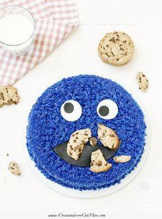 Tarta Monstruo de las galletas. Receta