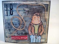 Susannes Scrapbooking og Håndarbeid : Maskuling/ tennårings kort Lunch Box, Cover, Books, Art, Art Background, Libros, Book, Kunst, Bento Box