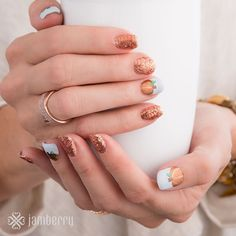 NOTD: 'Rush' sparkly gel enamel and 'Maple Sugar' (sparkly pumpkins) vinyl nail wraps from Jamberry make for the PERFECT pumpkin-picking manicure! Jamberry Fall, Jamberry Nail Wraps, Jamberry Style, Autumn Inspiration, Nails Inspiration, Fall Jams, Nails 2015, Autumn Nails, Fall Nail Designs