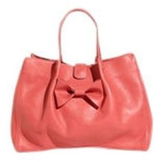 Pre-owned Red Valentino Playful Bow Leather Spacious Pink Satchel ($497) ❤ liked on Polyvore featuring bags, handbags, pink, red purse, red satchel handbags, satchel handbags, pink purse and tote handbags