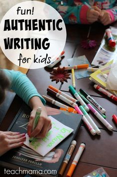 fun, authentic writing for kids: power notes to nana because kids need authentic and meaningful reasons to write!