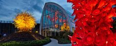 Chihuly Garden and Glass is a museum in the Seattle Center showcasing the studio glass of Dale Chihuly.