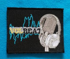 VOLBEAT DANISH ROCK N ROLL Band Embroidered Iron Or Sew On Patch  FREE SHIP