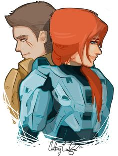 Red vs Blue- Project Freelancers Agent York and Agent Carolina Achievement Hunter, Red Vs Blue, Rooster Teeth, Rwby, Red Roses, Geek Stuff, Cartoon, Drawings, Anime
