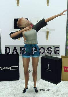 """zairah: """" HELLOOO. Zairah here. I've made this pose, I hope you like it. • How to use: - Pose Player. - Teleporter Any Sim. DOWNLOAD. Follow me on Instagram (Zairah.sim), and tagged me if you use this pose. """""""
