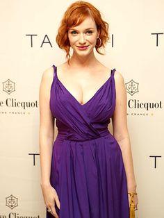 christina hendricks casual fashion | She got curves