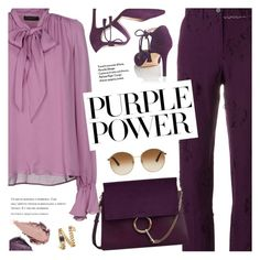 """International Women's Day: Purple Power"" by pokadoll ❤ liked on Polyvore featuring Plein Sud, DAMIR DOMA, Chloé, Gucci, Amica, Rituel de Fille, Rebecca Minkoff, polyvoreeditorial, polyvoreset and pressforprogress"