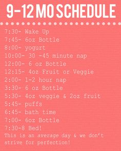 Just trying to get an idea of how to better organize the day with baby Carson @lilbithenson.blogspot.com #9-12MonthsSchedule #Daily Schedule #9to12Months