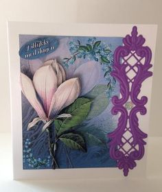 White Magnolia on Craftsuprint designed by Bodil Lundahl - made by Ulla Skraedderdal - I printed the sheet onto a good quality of paper, and cut the items out. Layered with 3D pads and finish the card with a dies and a gem. Very beautiful sheet.  - Now available for download!