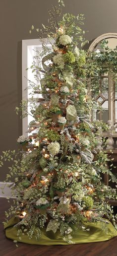 "I have always used traditional Christmas colors but this is stunnng and makes me want to do sommething different this year 6"" Antiqued Green Ornament"