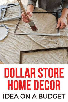 Decorate for cheap with these Dollar store frames that are the perfect item to craft from. You can create beautiful seasonal artwork that is easy to change out. Perfect for decorating your living room wall, entryway, hallway or kitchen and bedroom. #hometalk Dollar Store Crafts, Dollar Stores, Living At Home, Living Room, Frugal Living, Mosaic Flower Pots, Faux Fur Rug, Book Wall, Burlap