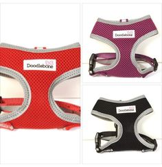 Dog Harness by Doodlebone. Padded for extra comfort with reflective panels.