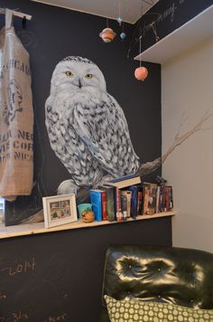 Now working on an owl mural in my daughter's room.