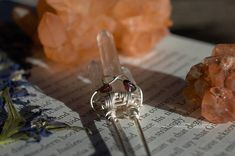Small Straight Wire Wrapped Clear Quartz and Lumerian Quartz Clear Quartz, Wire Wrapping, Unique Jewelry, Handmade Gifts, Etsy, Handcrafted Gifts, Hand Made Gifts, Diy Gifts