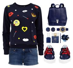 """""""Funny outfit for Giulia"""" by simona-altobelli ❤ liked on Polyvore featuring Lanvin, Proenza Schouler, Noir Jewelry, Michele, Essie, Kate Spade and MAC Cosmetics"""