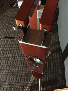 Luke Zitterkopf, of Aluminous Audio , dropped by Shunyata Research last week and set up his latest iteration of his hanging speakers. Speaker Design, Speaker System, Speakers, Highlights, Audio, Blog, Image, Music Speakers, Highlight