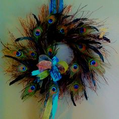 Peacock Wreath my aunt made... How awesomely talented is she?!