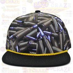 TopCul Bullet Ammo Hip Hop Rap Gangster Street Wear Streetwear Snapback Hat Cap – MyCraze #TopCul #Streetwear #HipHop #Bullets #Snapback #BaseballCap