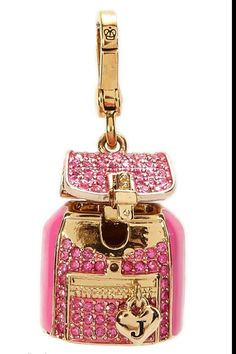 Juicy Couture pink backpack charm