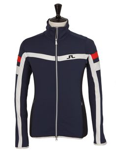 M Huxley Jkt Technical Jersey Navy/Purple J.Lindeberg