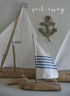 driftwood sailboats…cool idea!!!