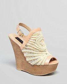 STEVEN BY STEVE MADDEN Platform Wedge Sandals - Jacks Crochet | Bloomingdale's