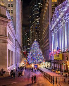 New York Stock Exchange. New York City. Visit New York City, New York City Travel, New York City Christmas, Christmas Time, Mary Christmas, Christmas Vacation, Christmas 2017, Purpose Of Travel, Destinations