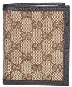 2c3640fcc608 New Gucci 292533 Mens Beige Canvas GG Guccissima Verticle Bifold Wallet