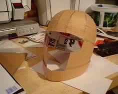 cardboard cosplay helmet
