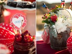 {#2} Part II: SUNSET DESSERT | Homemade Americana V-Day Inspiration + Free Printables by Couture Events