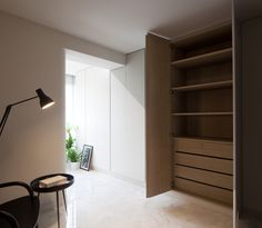 b plus design blog sharing singapore apartment minimalist master bedroom wardrobe interior design by Wills