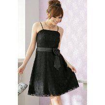 Japon Style Balo Parti Mezuniyet Elbise - Siyah
