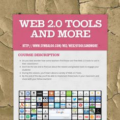 This is an information cite that teachers users (educators) how to properly use and incorporate different Web Tools. Technology Websites, Teaching Technology, Educational Technology, Web 2.0, 21st Century Learning, School Items, School Stuff, Teacher Resources, Flipped Classroom