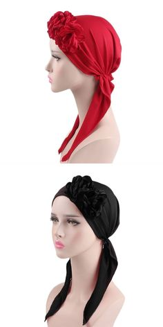 d3a8e09c5cc Fashion female spring and autumn turban hat stretchy flower turban caps  head wrap women s skullies beanies