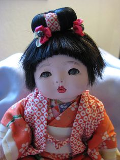 Vintage Ningyo/Japanese doll ~Mother and Daddy bought me a doll something like this when we visited China Town in San Francisco when I was six years old....