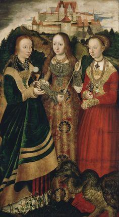 Lucas Cranach D.A. - Katharinenaltar (Dresden). 1506.