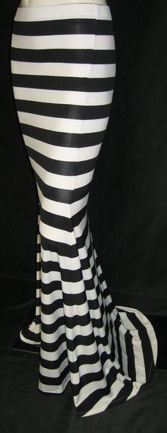 Handmade High Low waist maxi mermaid skirt by TheFashionVault