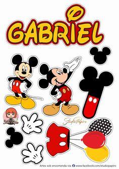 Bolo Mickey E Minnie, Mickey Mouse Cake Topper, Mickey Mouse E Amigos, Theme Mickey, Fiesta Mickey Mouse, Mickey Mouse Parties, Baby Mickey, Mickey Mouse And Friends, Jungle Birthday Cakes