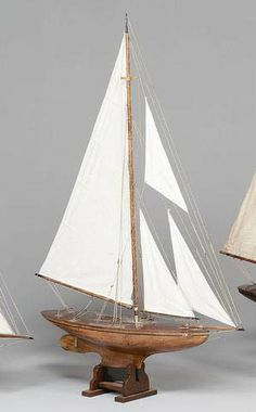 A large gaff cutter rigged Pond Yacht