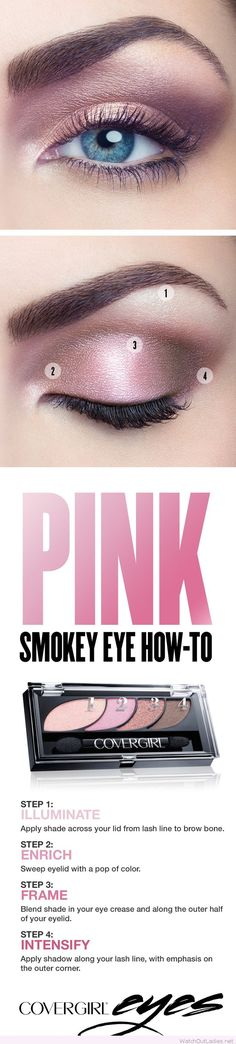 Pretty pink smokey eye tutorial