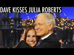 Julia Roberts Gives David Letterman One Last Kiss: See Their First! - Us Weekly