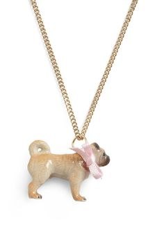 Haha oh my gosh, this is so cute!     Modcloth: What's the story, Winston? necklace