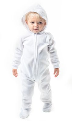 d0a87c4e7 Footed Pajamas - Arctic White Infant Hoodie Fleece - Small Max Costume, Pjs,  Pajamas