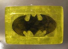 "Making <i>Batman</i> glycerin soap is easier than you'd think. Read the tutorial <a href=""http://www.craftster.org/forum/index.php?topic=307933.0"">here</a>."